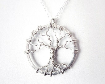 Necklace - Sterling Silver Tree of Life Necklace - Sterling Silver Tree Necklace - Wire Tree Pendant - 925 - Wire Tree Necklace