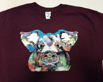 Paint Splatter Pig Shirt