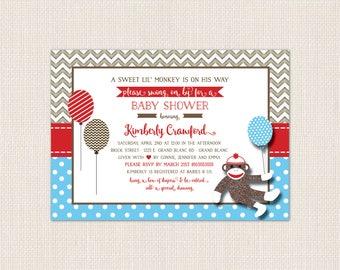 MONKEY AROUND Baby Shower Invitation - DEPOSIT