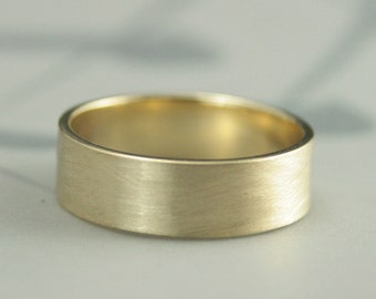 10K Gold Band--Recycled Gold Wedding Band--Flat Gold Band--Men's Wedding Band--Men's Gold Ring--Straight and Narrow Band--Men's Gold Band