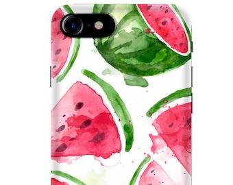 Wassermelone Handyhülle für iPhone und Samsung, Wasserfarbe