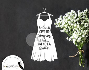 Fashion Vinyl Decal, Shopping Decal, LBD, Fashion Quote Decal, Laptop Decal, Car Window Decal, ipad Decals, Typography, SoCalCrafty