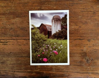 Greeting Card - Old Barn and Silo