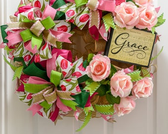 Amazing Grace Door Wreath, Hymn wreath
