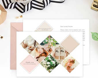 Thank You Card Template for Wedding Photographers, Wedding Photography Marketing Template, Thank You Notes, Many Thanks - TY101A