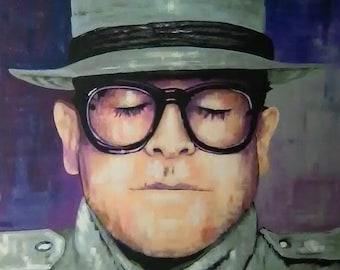 "Elton John Art Print by Texas Artist Marnie Miller Titled ""Twisting Kaleidescope"""