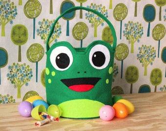 Easter Basket, Frog, Easter bucket, Easter basket ideas, Easter gift ideas, first Easter gift, Easter gift for kids, fabric basket