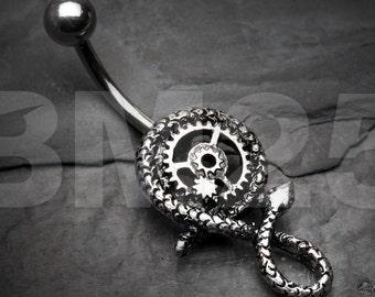 Serpent Clockworks Steampunk Belly Button Ring