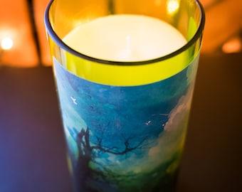 Wimberley Valley Wine Bottle Soy Candle - Moon Lake Musk