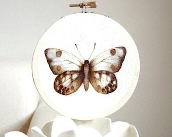 flight no. nine - original butterfly woodburning art