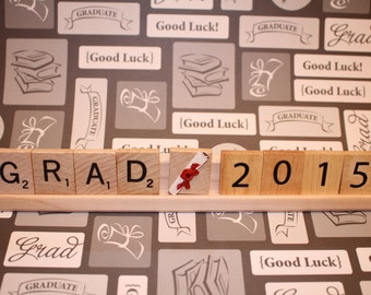 Grad (Customize year), Graduation Decor, Graduation Party, Scrabble Decor, College Graduation, High School Graduation, Senior, Class Of, Hat