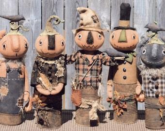 Primitive PATTERN Canned Pumpkin Men