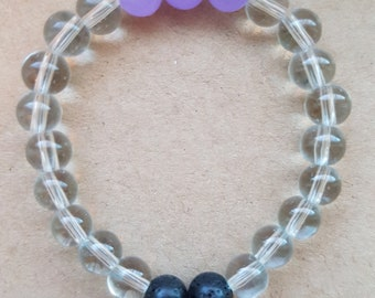 Toddler aromatherapy bracelet 6mm with lava stones