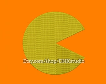 Pac-Man Embroidery Design - 5 Sizes - INSTANT DOWNLOAD