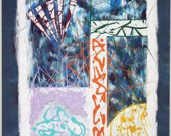 "Frames (2017) 16""x20"" Acrylic Painting"