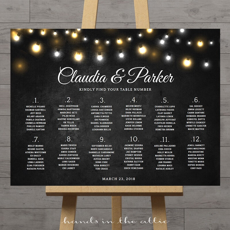 Chalkboard wedding seating chart large reception signs