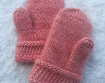 Thick felted mittens