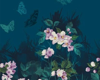 Mystic Garden ~Teal Panel~Sold by the Panel~Cotton Fabric, Quilt,by Northcott Fast Shipping,F701