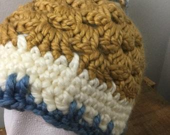 Fifi Hat- Yellow/Cream/Blue
