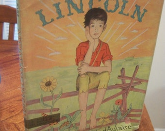 Abraham Lincoln By Ingri & Edgar Parin d'Aulaire 1957 HB