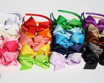 hair bows Bow Headband hair bows Hard Headband with Bow Plastic Headband girl headband girls hair bow headband hoop headband