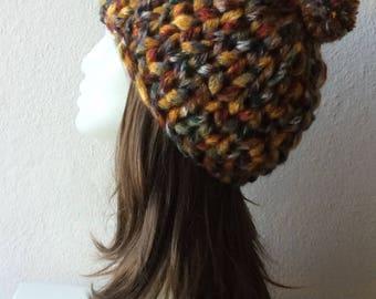 Chunky Beanie, Pom Pom Beanie, Chunky Knit Hat,