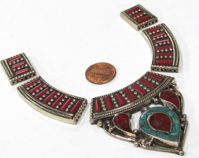 Beautiful ethnic Nepal Tibetan pendant necklace multi strand DIY kit set fine quality - Jewelry DIY pendant Kit - DY003