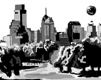 Belmont Plateau view of Philadelphia (Print)