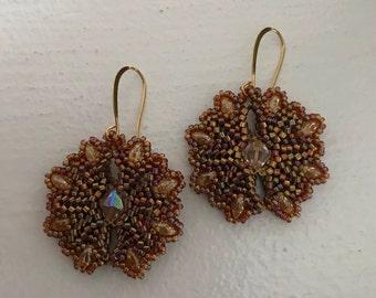 Golden Sparkle Dangle Earrings