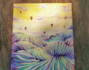 Purple Harvest: An Original Landscape Oil Painting on Canvas