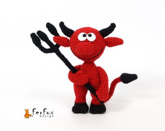 Red Devil OOAK fantasy doll Halloween gift Devil doll Collectible art doll unique Halloween decor Halloween devil Horror doll Devil figurine