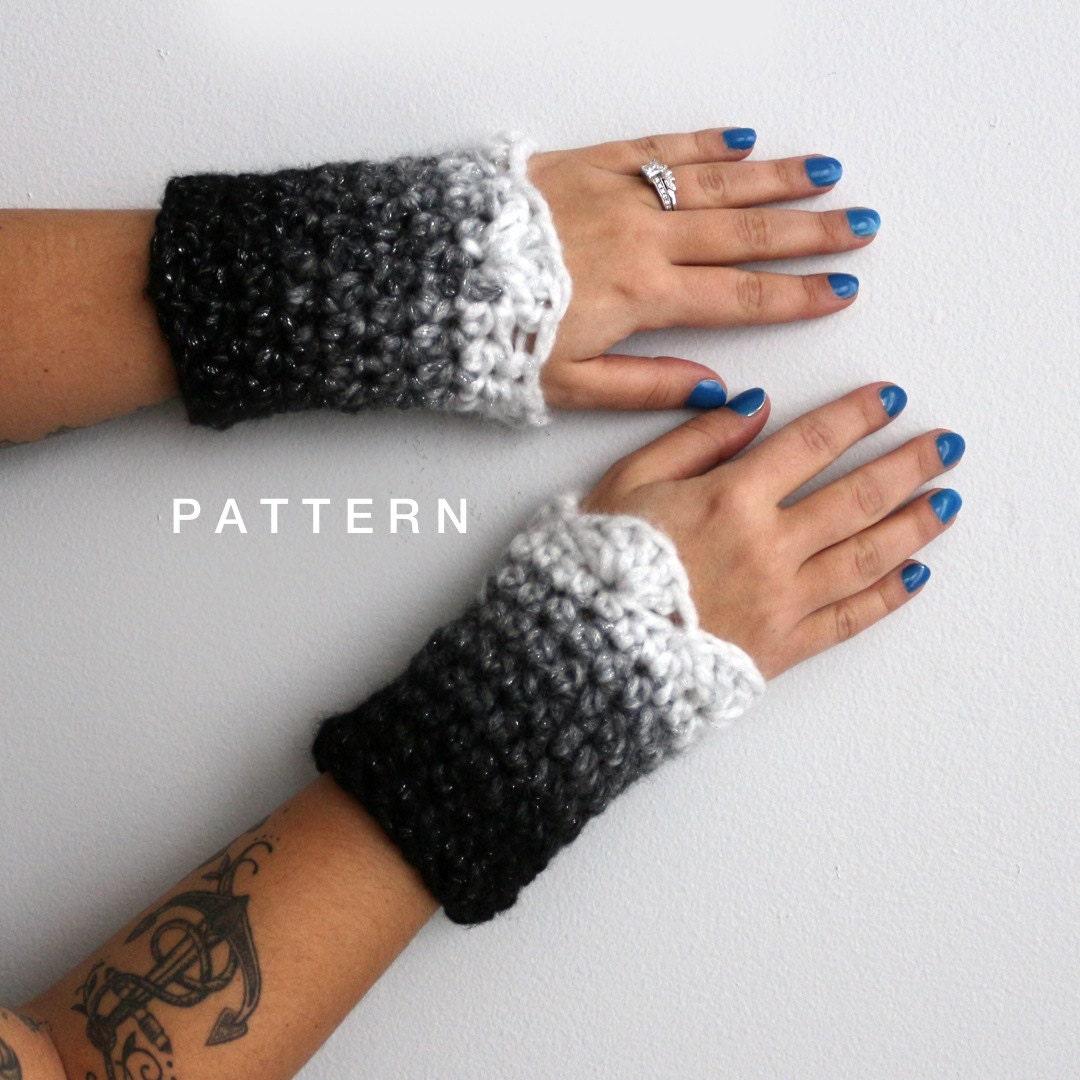 Isaac Mizrahi CRAFT Yarn Wrist Cuffs Crochet Pattern, Crochet Wrist ...