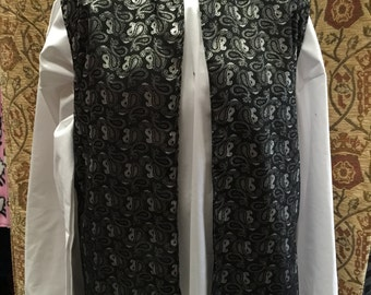 Outlander inspired waistcoat black and silver