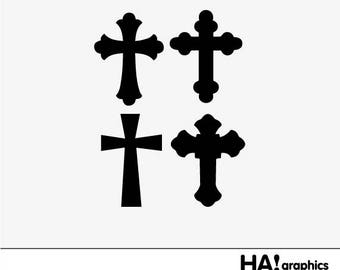 Cross PNG, SVG and DXF Files - cross, christian, first communion, Silhouettes, Clipart, Vector, Instant Download