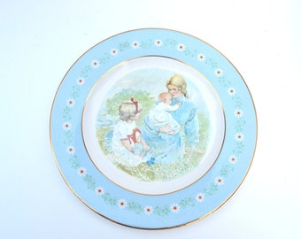"Vintage Commemorative Plate ""Tenderness"", Mother and Children,Special Edition, Pontesa, January 1974, Spain"