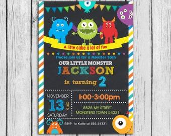 Little monster Birthday Invitation, Little monsters Invitation,Little monsters Birthday Party, Little monster Birthday Party Printable