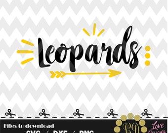 Leopards  svg,png,dxf,cricut,silhouette,college,jersey,shirt,proud,cut,university,football,decal,baseball,basketball,lafayete,