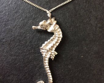 Hallmarked Sterling Silver Sea Horse