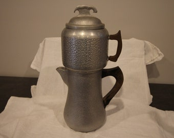 Guardian Service Aluminum Coffee Pot  Hammered