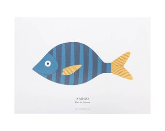 Print-A3 SEABREAM (bream)