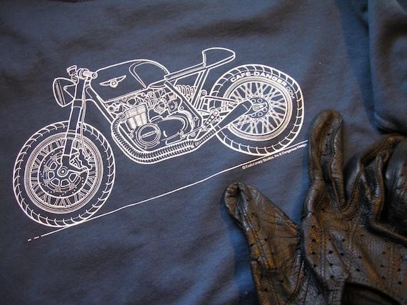 Items similar to honda cafe racer blueprint shirt on etsy malvernweather Images