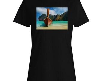 Thailand Thai Beach Travel The World Ladies T-shirt b373f