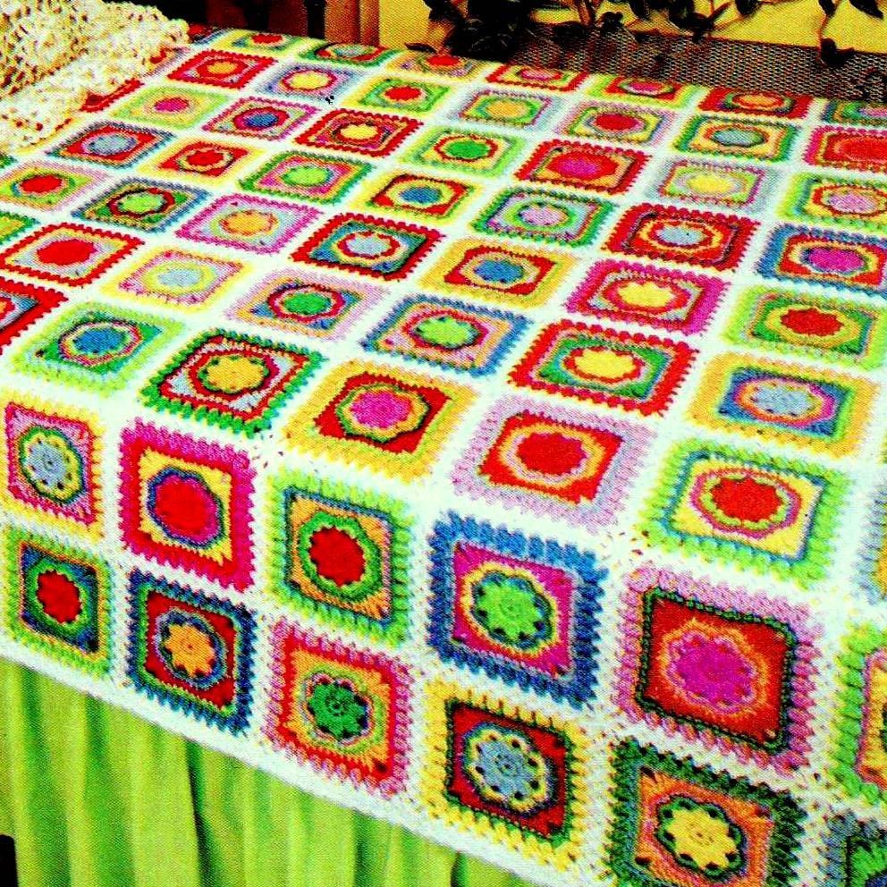 INSTANT DOWNLOAD PDF Vintage Crochet Pattern Patchwork Granny
