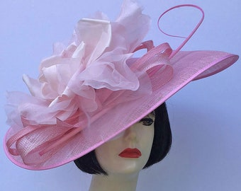 Pale Pink Large Fascinator