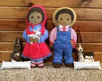 Rachel and Amos Vintage Doll Set