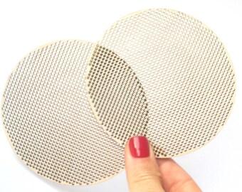 "Cross Stitch Shape, 4"" - 100 mm, Circle, Disk, Cross Stitch Blank, Plywood Blank, DIY, Needlepoint Blank, Laser Cut"