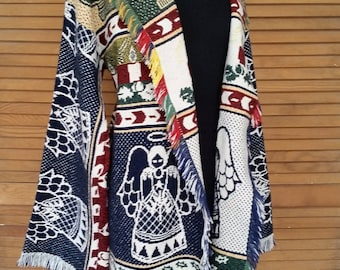 Upcycled Angels Blanket Coat
