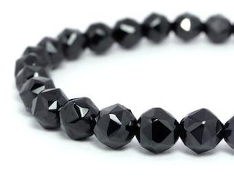 6mm Black Spinel Stretch Bracelet