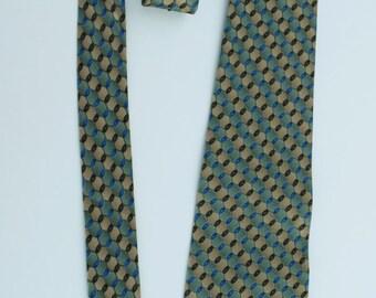 Designer Tie Classic Vintage Croft & Barrow /  100% Silk