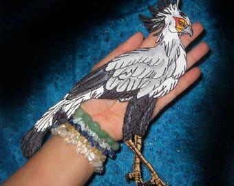 Secretarybird Secretary Bird Iron on Patch